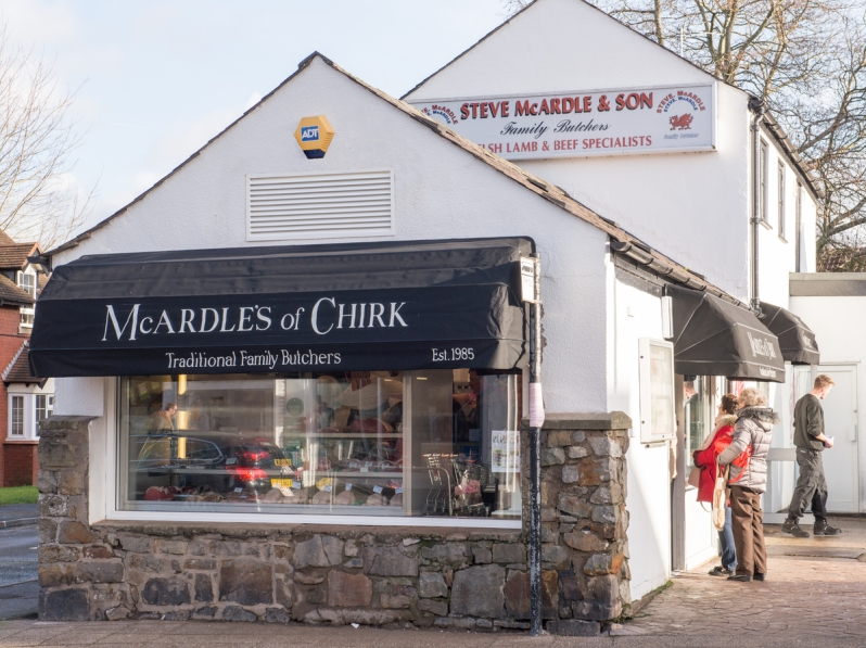 McArdles Butchers re opens after refurbishment, Chirk.