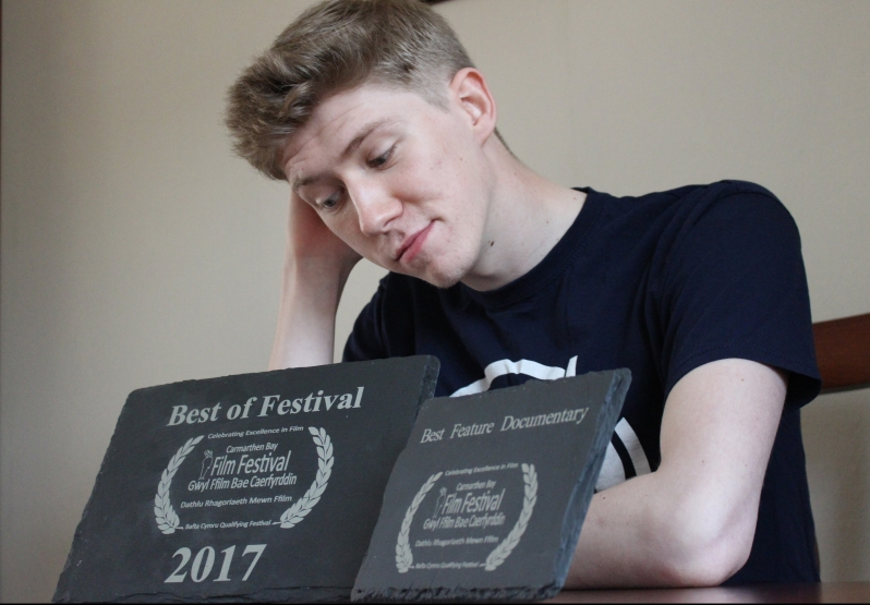 Tom with Awards