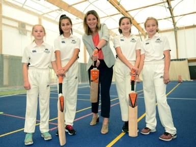 L-R Emily Pritchard, Marta Fernandez-Marco, Charlotte Edwards CBE, Poppy Wilson, Jess Gittins